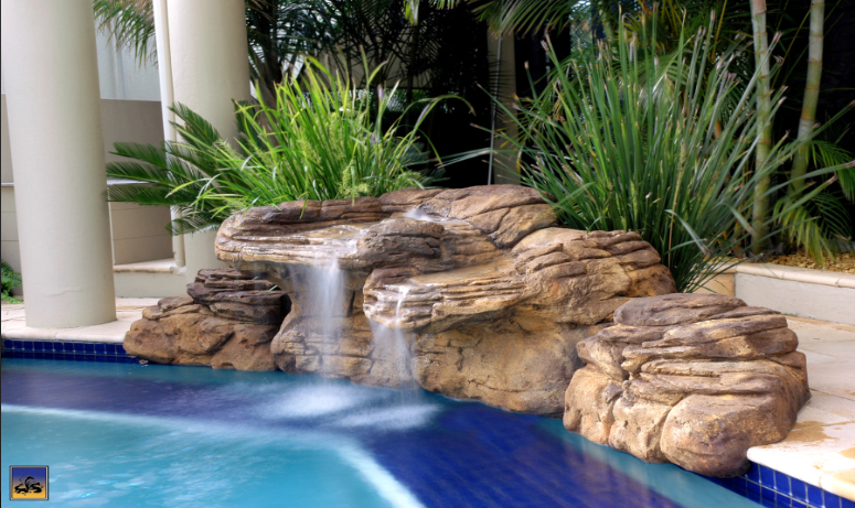 beachcomber rock swimming pool waterfall kit
