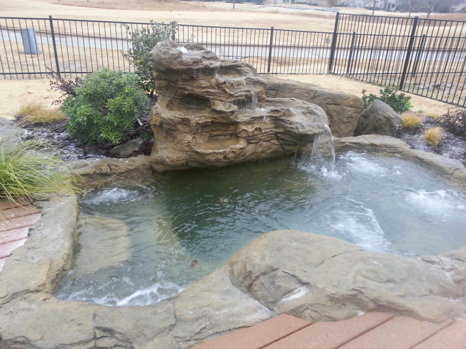 In Ground Pool Ideas Swimming Pool Rock Waterfalls Kits Fountains And Boulders