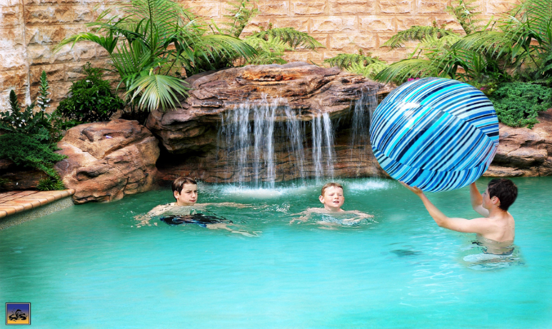 swimming pool rock waterfalls and fountains add value to your home swimming pool rock waterfalls - Swimming Pools With Grottos