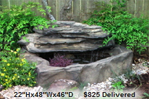 Petite Pools Patio Pond Rock Fountain